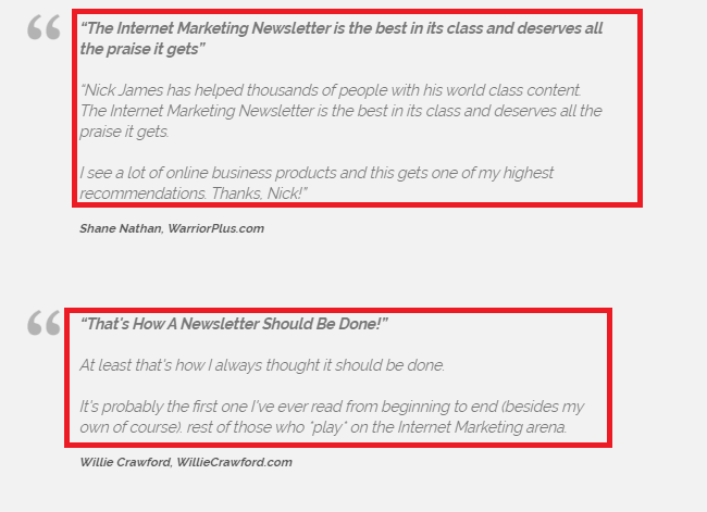 Internet Marketing Newsletter Review