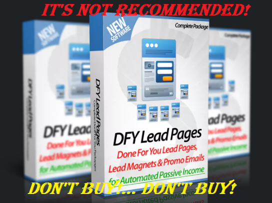 DFY Lead Pages Review