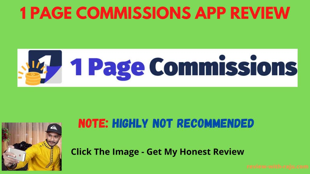 1 Page Commissions App Review